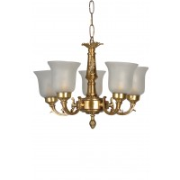 Small Traditional Brass Chandelier