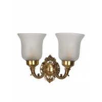 Small Traditional Brass Double Wall Light