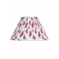English Red Flowers Pleated  14 Inches Fabric Lampshade (for E27)