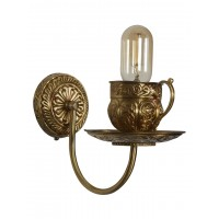Brass Teacup wall sconce