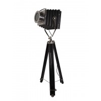 Vintage Camera  Black Decorative Tripod Floor Lamp