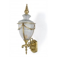 Empror Cut Glass & Brass Outdoor Wall Lamp