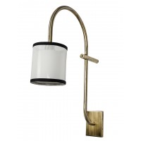 Golden Gooseneck Barn Light Fixture With Long Extension Arm - Wall Lamp, Vintage, Antique Style
