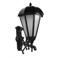Large Umbrella Black Cast Aluminium Outdoor Wall Light