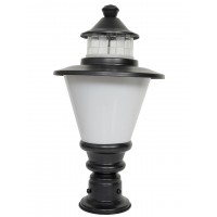 Vivo 8x13 Black Steel and White Acrylic Outdoor Gate Light