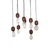 Modern Wooden 8 Light Hanging Lamp