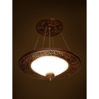 Southern Charm Ornate Wood Hanging Light