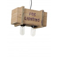Wooden Case Warehouse Pendant Light