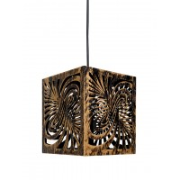 Square Shaped Unique and Decorative Hanging Light Pendant Light for Ceiling to Decor Your Home Bar Restaurant etc (Antique Gold Finish)