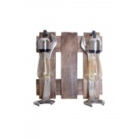 Rustic Jumbo Wrench Double Wall Sconce