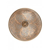 Hand Painted Jaipuria Brass Ceiling Lamp - Large