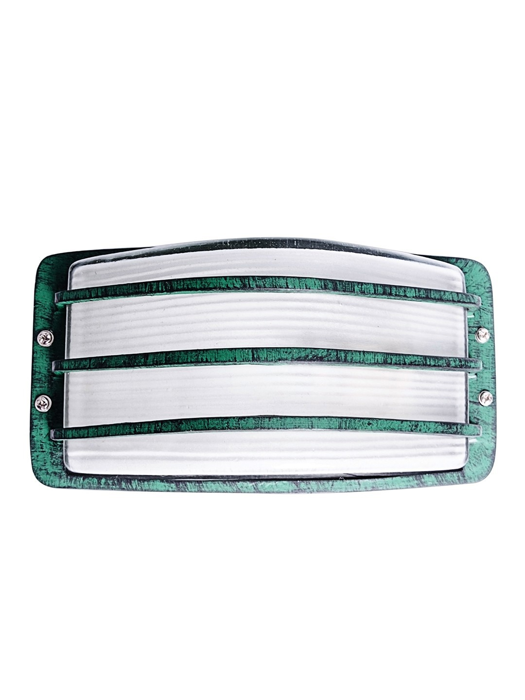 Camouflaged Green Striped Bulkhead Outdoor Light