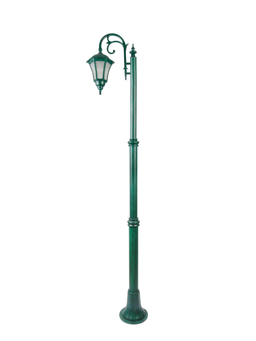 Classic Antique Green Single Downward Lamp Pole Light