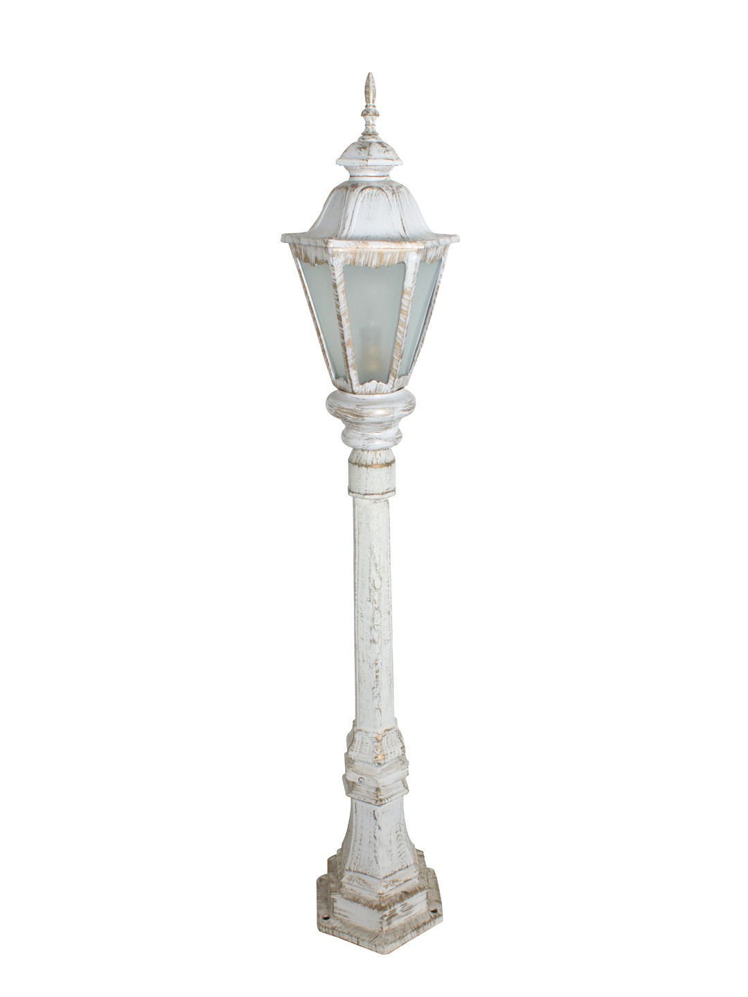 Pristine White Gold Traditional Cast Aluminium 3.5 feet Lamp Post