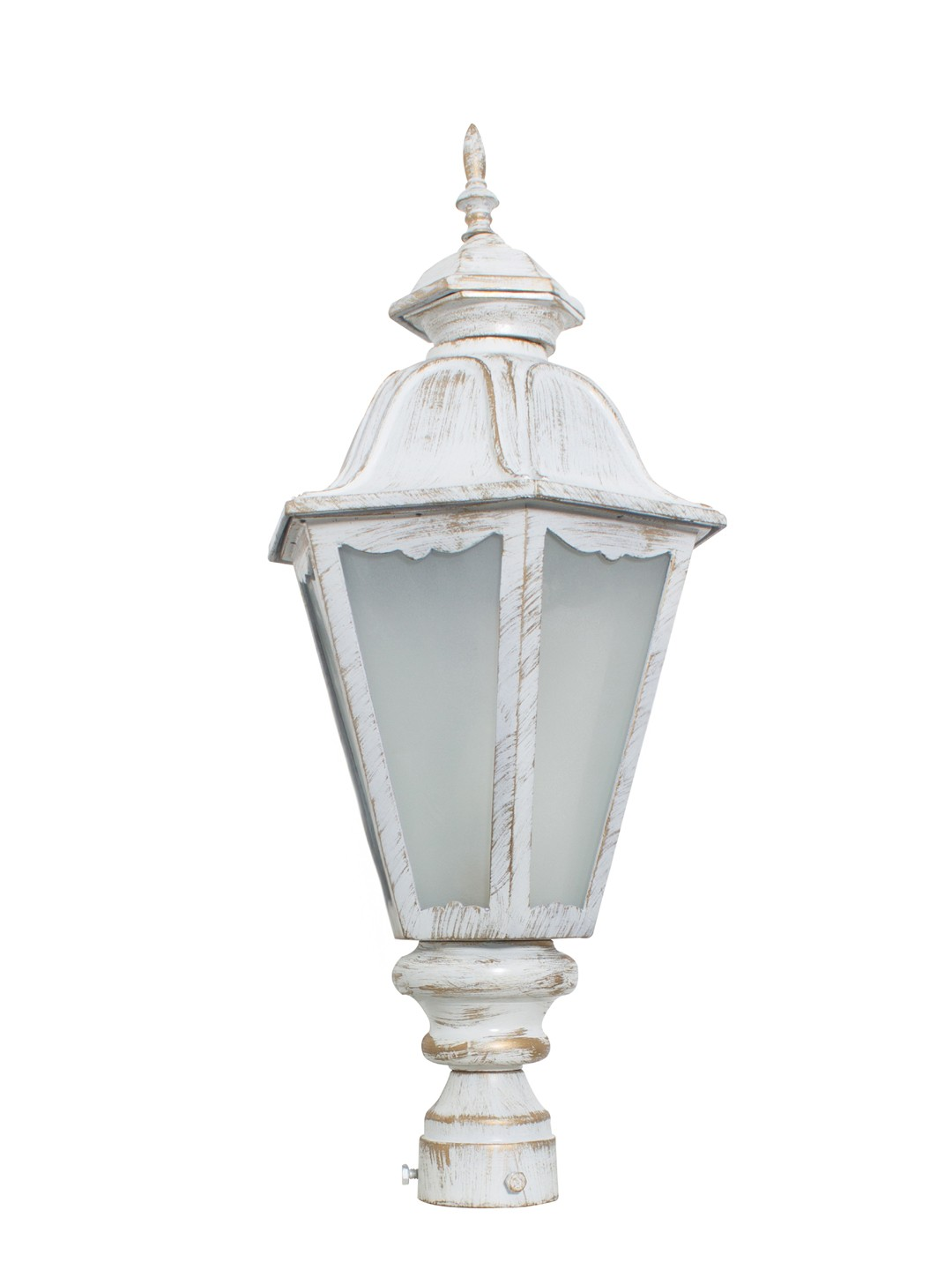 Pristine White Gold Traditional Cast Aluminium Small Gate Light