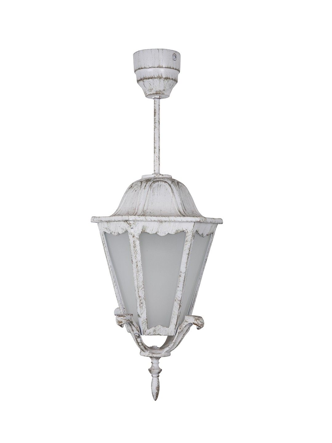 Pristine White Gold Traditional Cast Aluminium Pendant Light