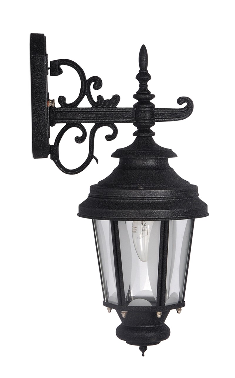 Crinkle Black Outdoor Wall Sconce