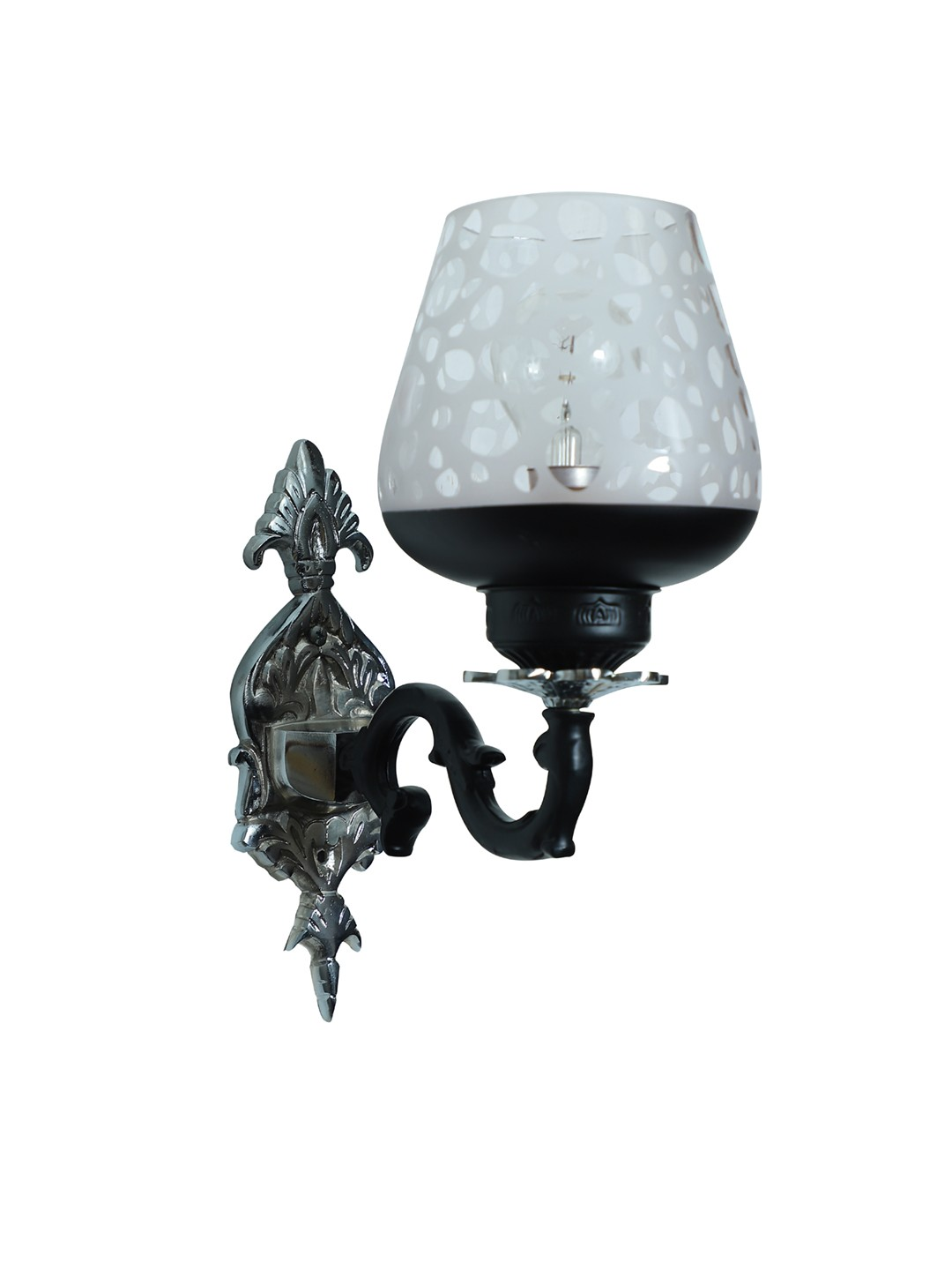 Black & Silver Gothic Single Aluminium Wall Sconce