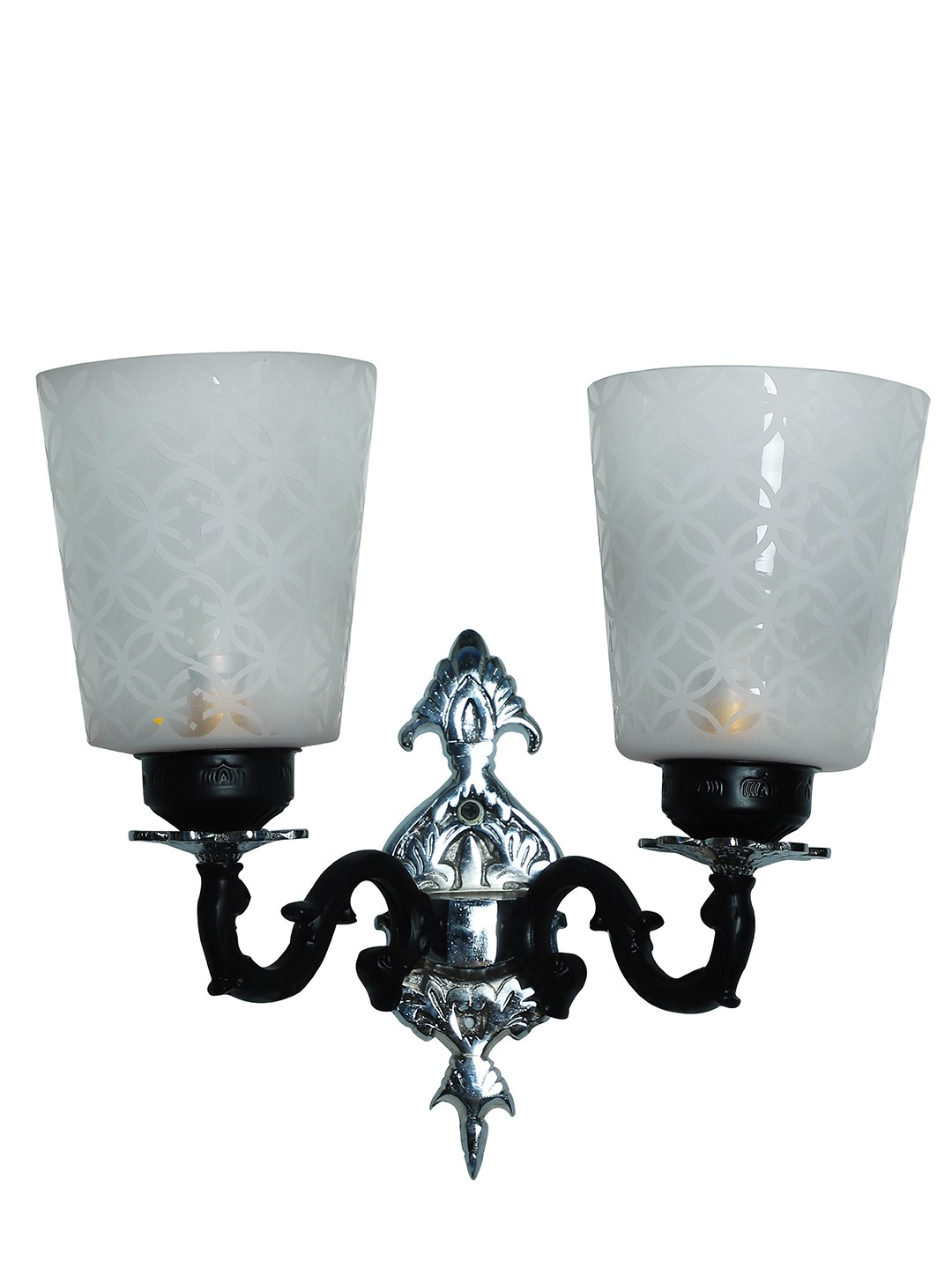 Black & Silver Mystique Double Aluminium Wall Sconce