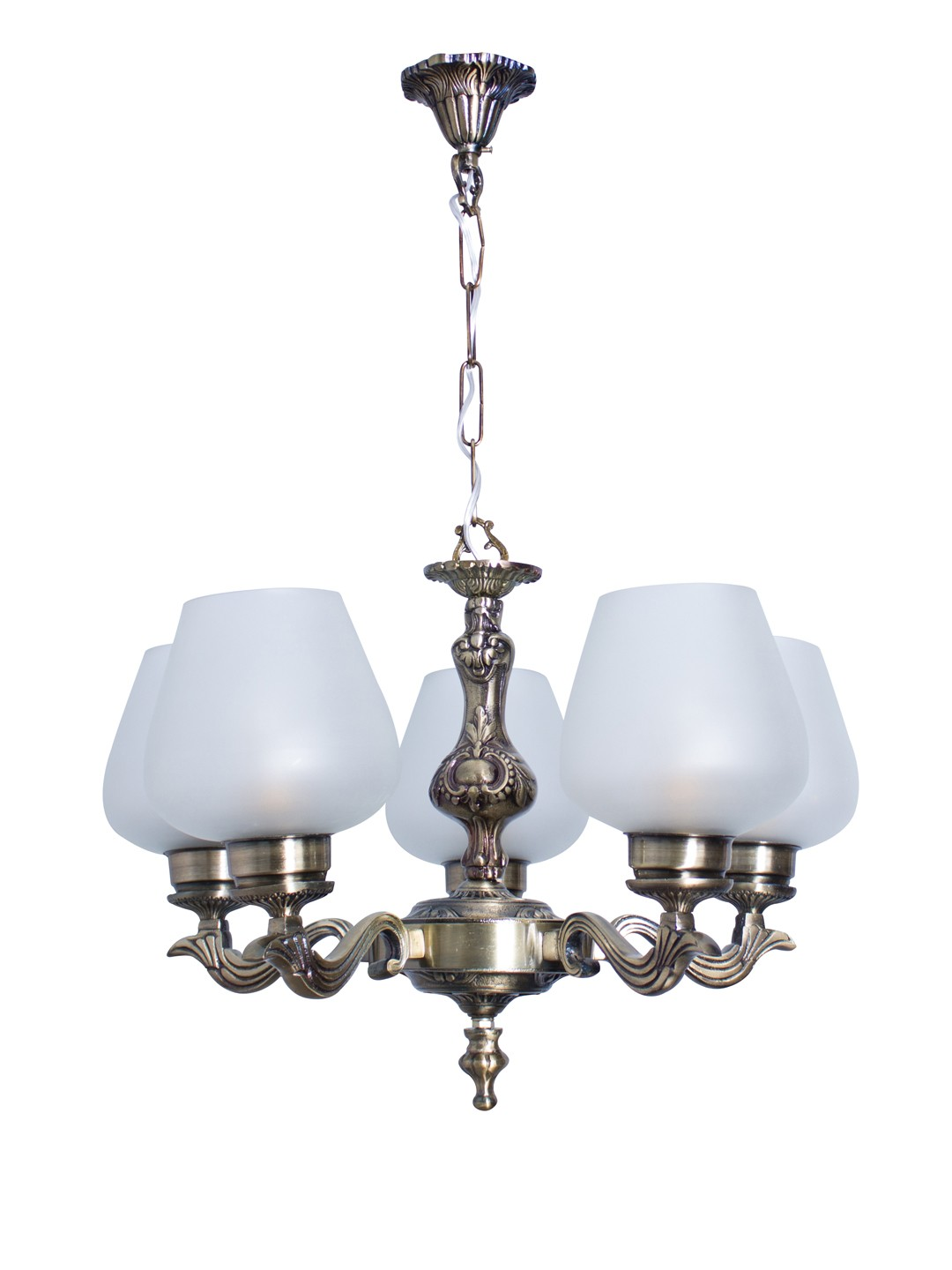 Allure Antique Finish Small 5 Light Chandelier