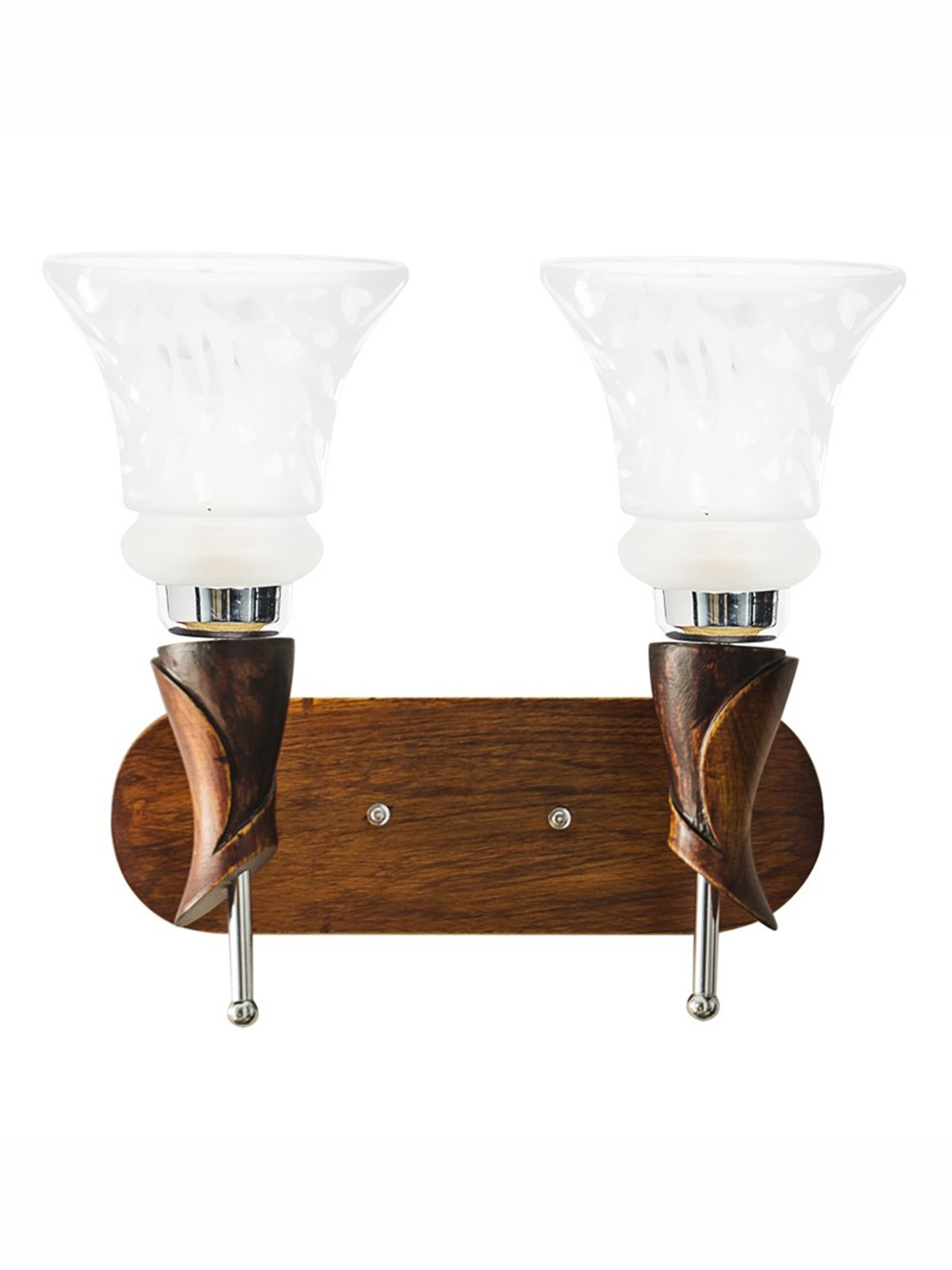 Aston Wood Double Wall Light