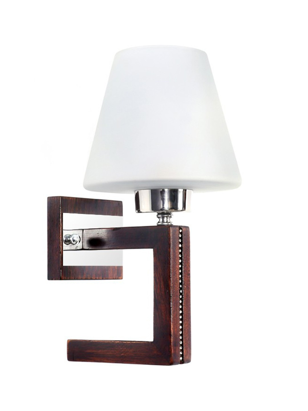 Straight Line Wood Bling Single Wall Light