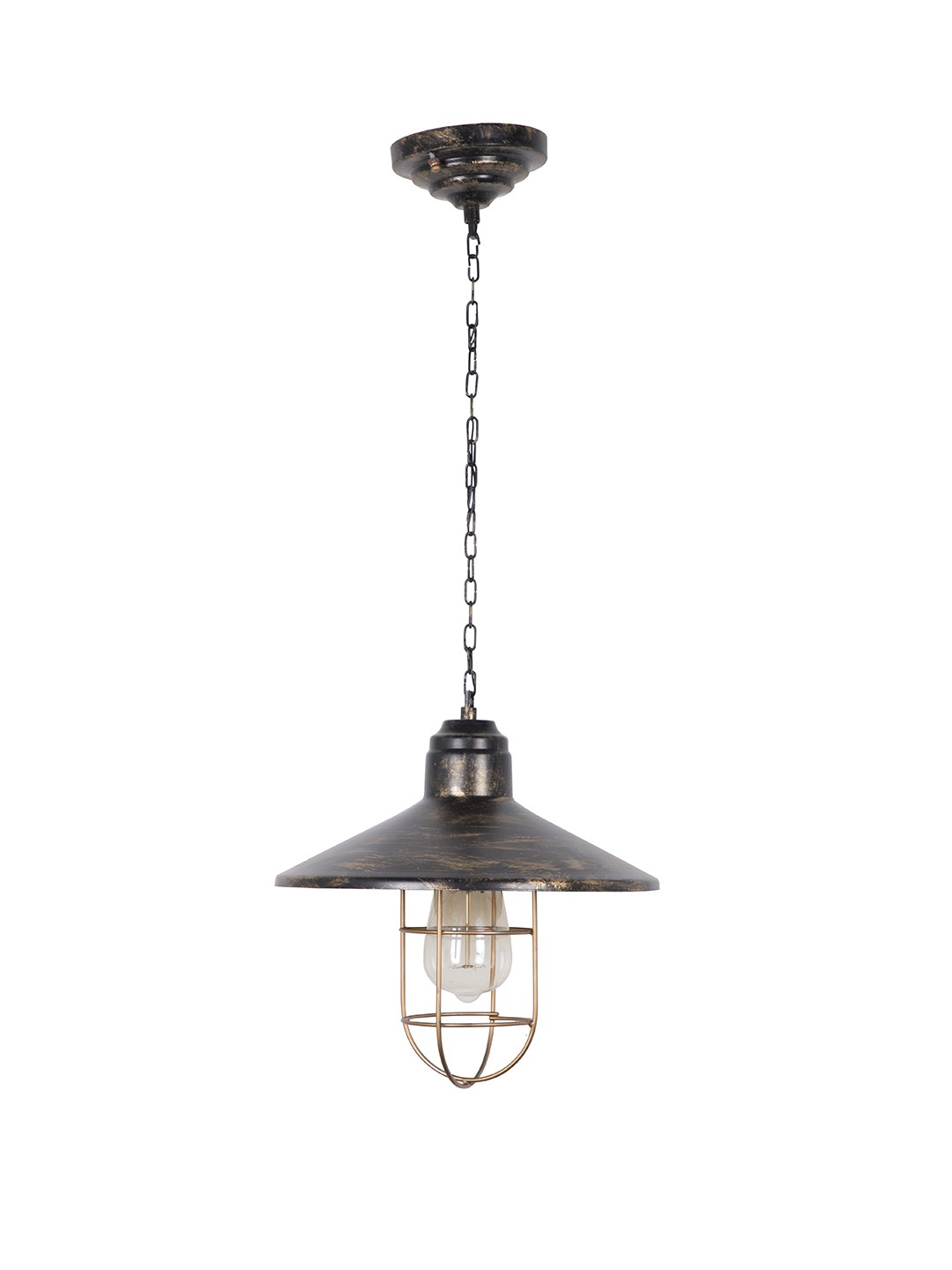 English Farmhouse Style Antique Gold Pendant Light