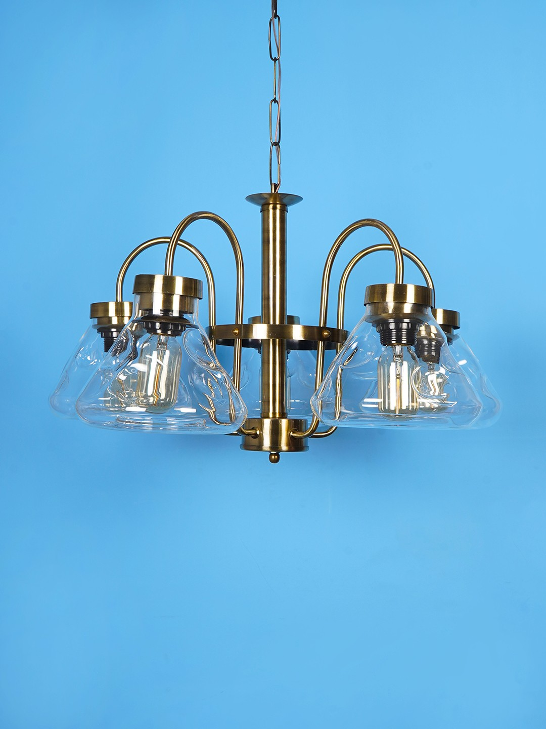 Conical Flask Antique 5 Light Retro Chandelier