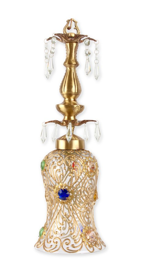 Bindi Cast Brass & Crystal Pendant Light