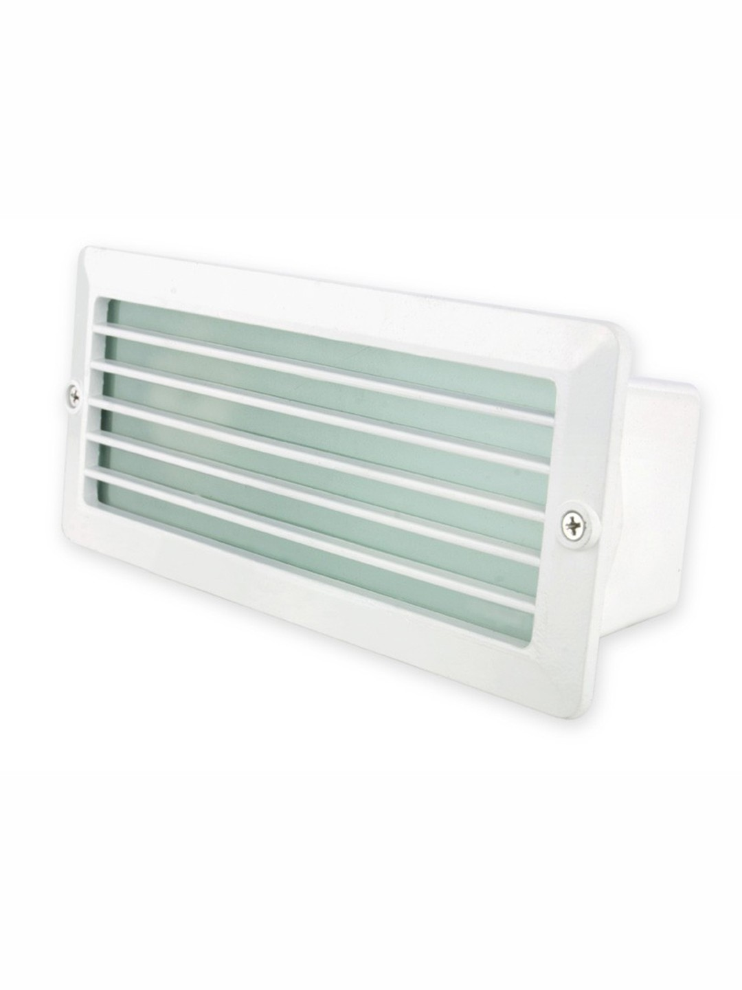Recessed Water Resistant White Louver Foot Light
