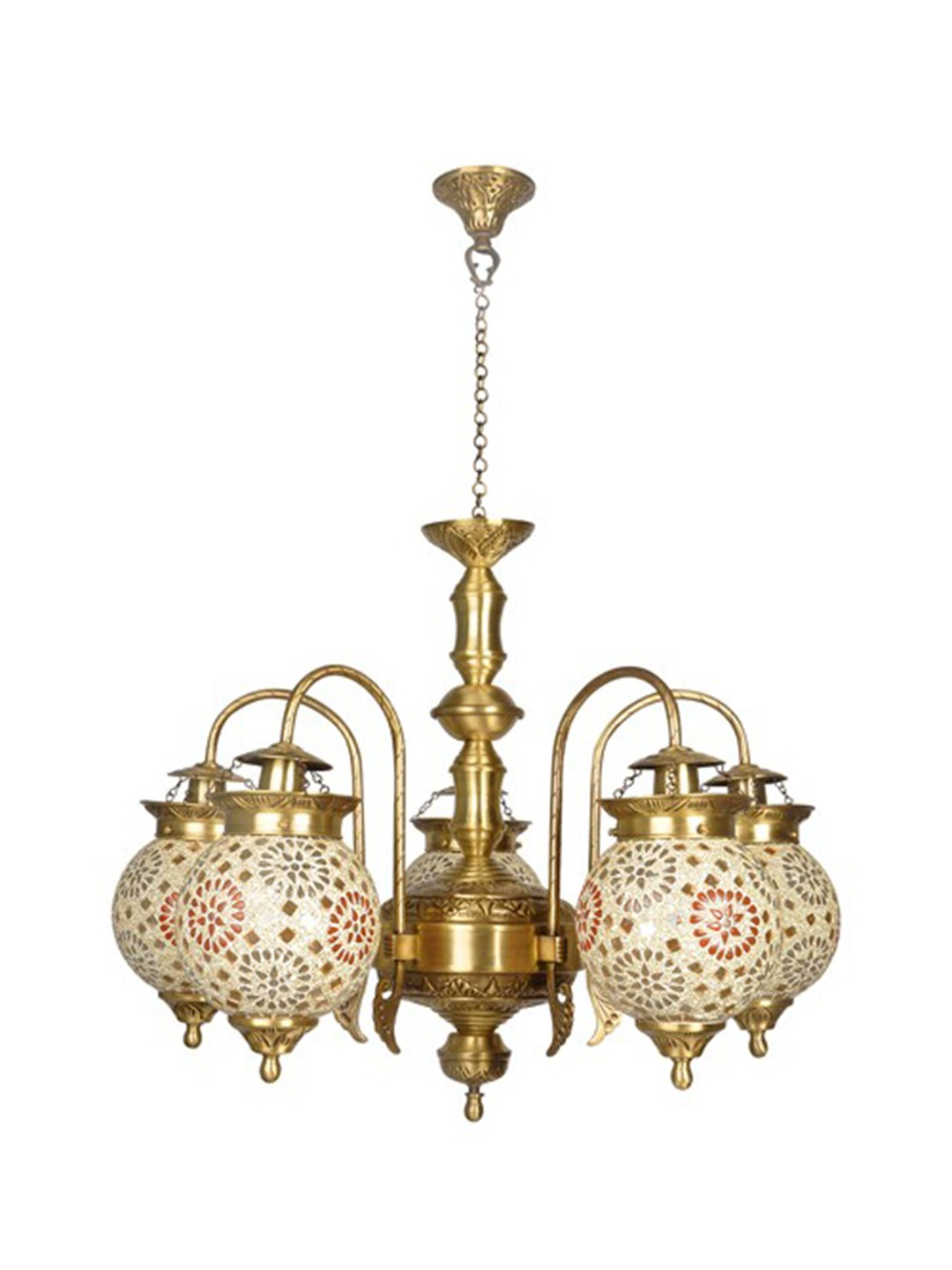 Tilak Golden Globes 5 Light Chandelier