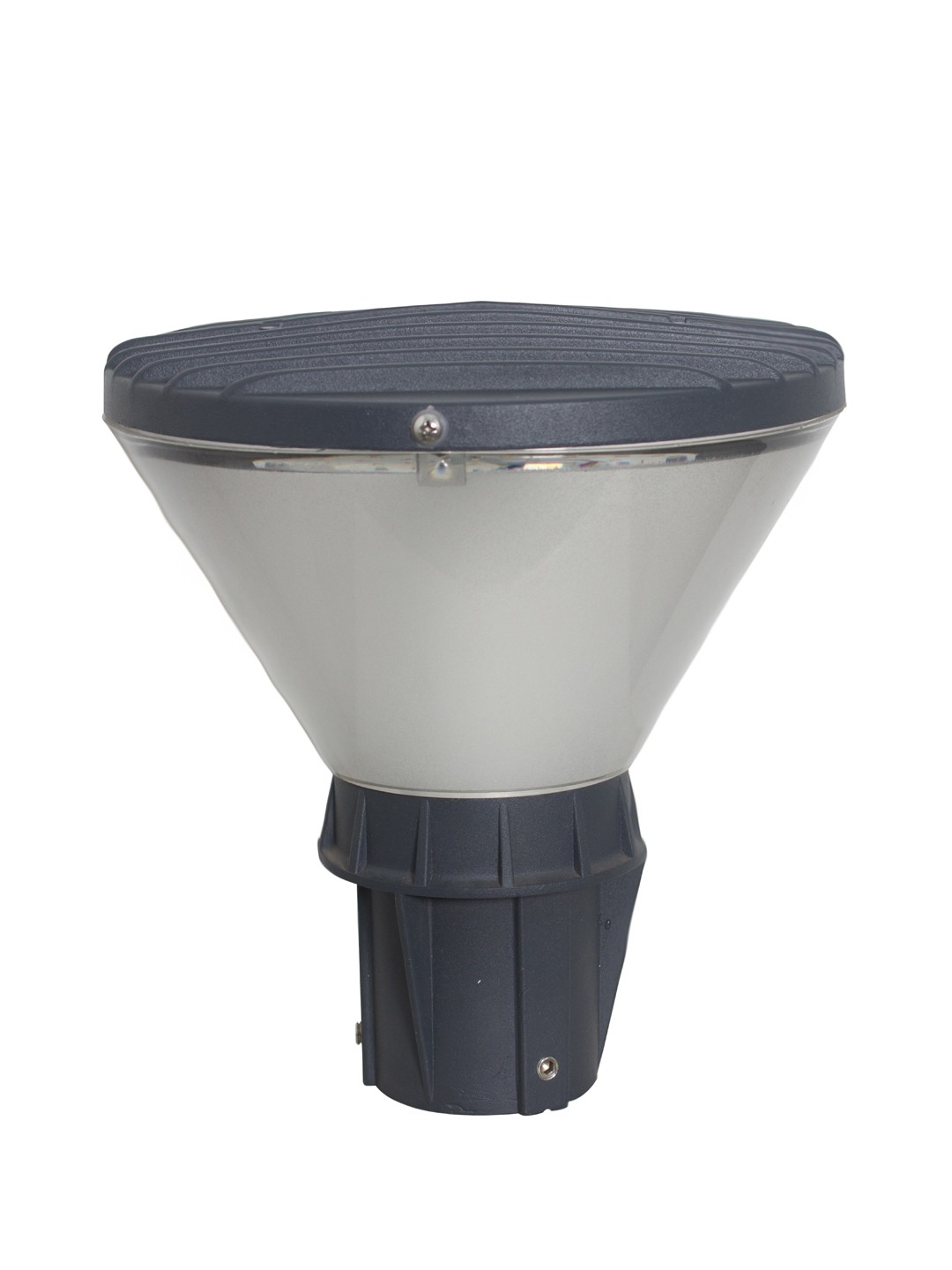 Modern Aluminum Conical 10 Watt LED Garden Post Gate Light