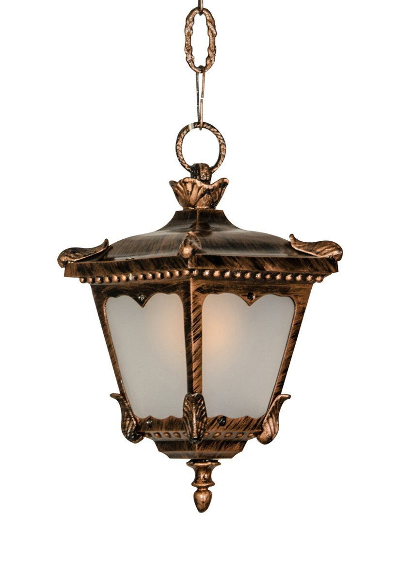 Fos Lighting Classic hanging light in antique copper finish