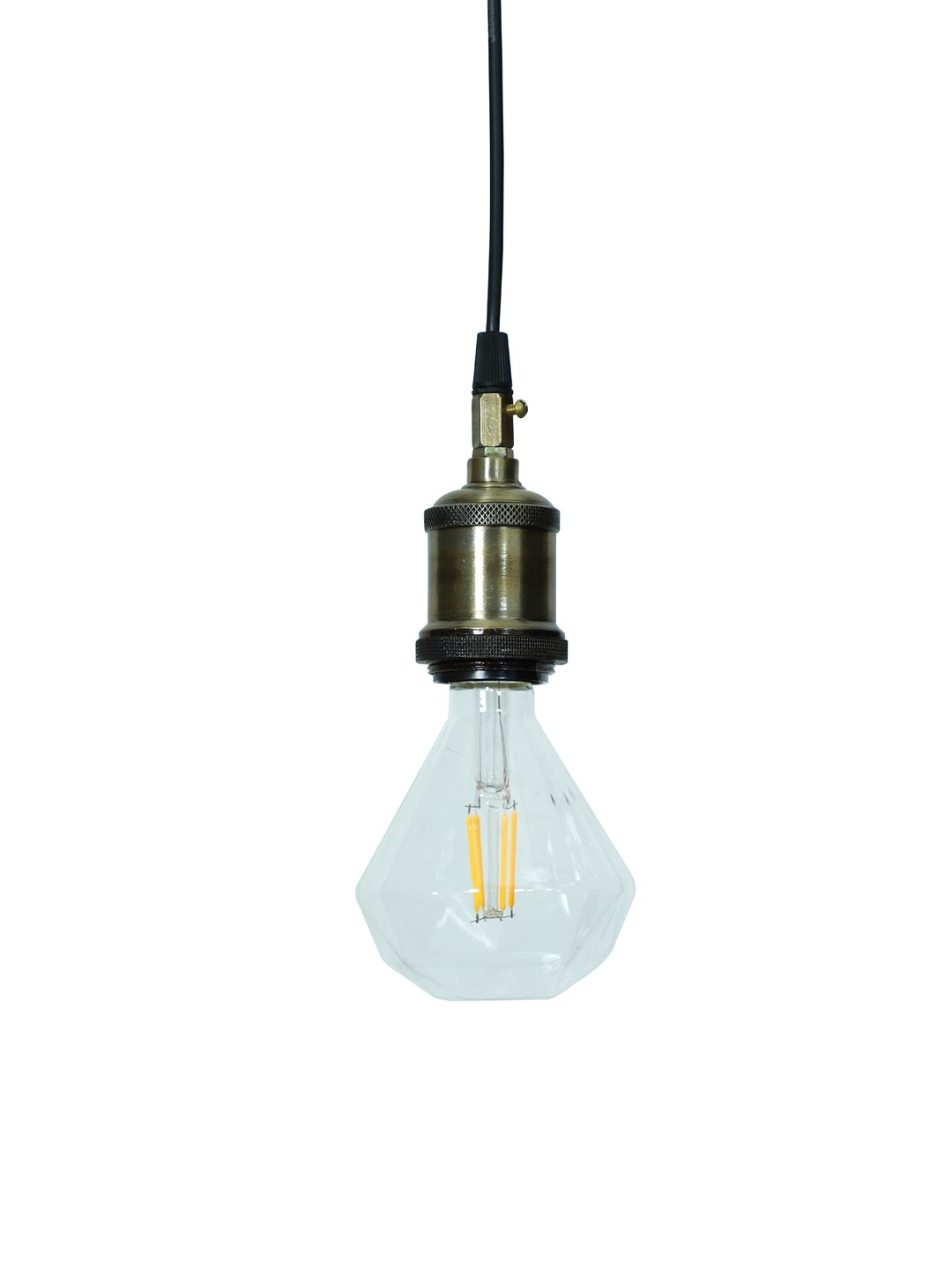 Edison Hanging with Diamond Shaped LED E27 bulb