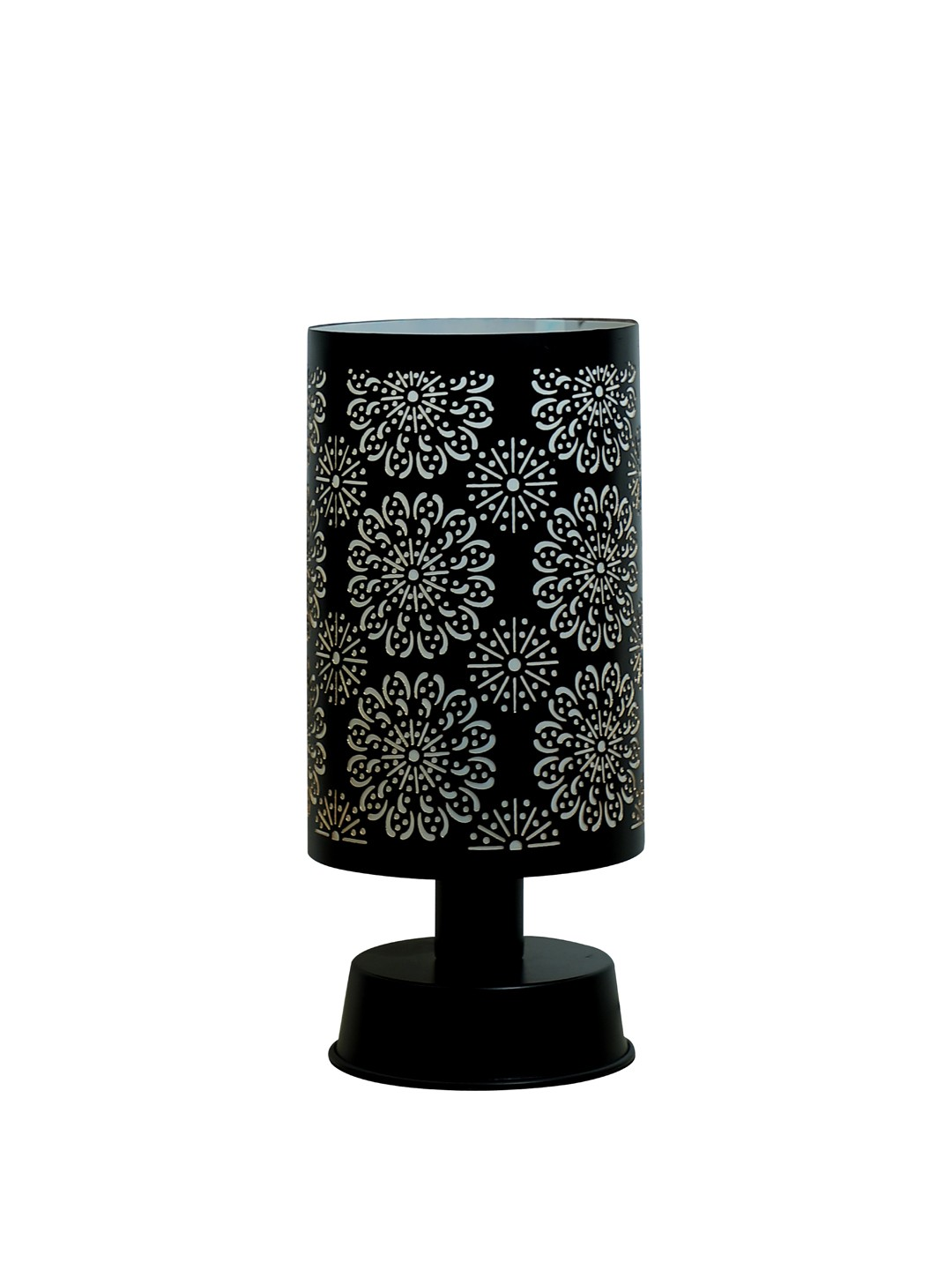 Flower Mesh Cylinder Table Lamp