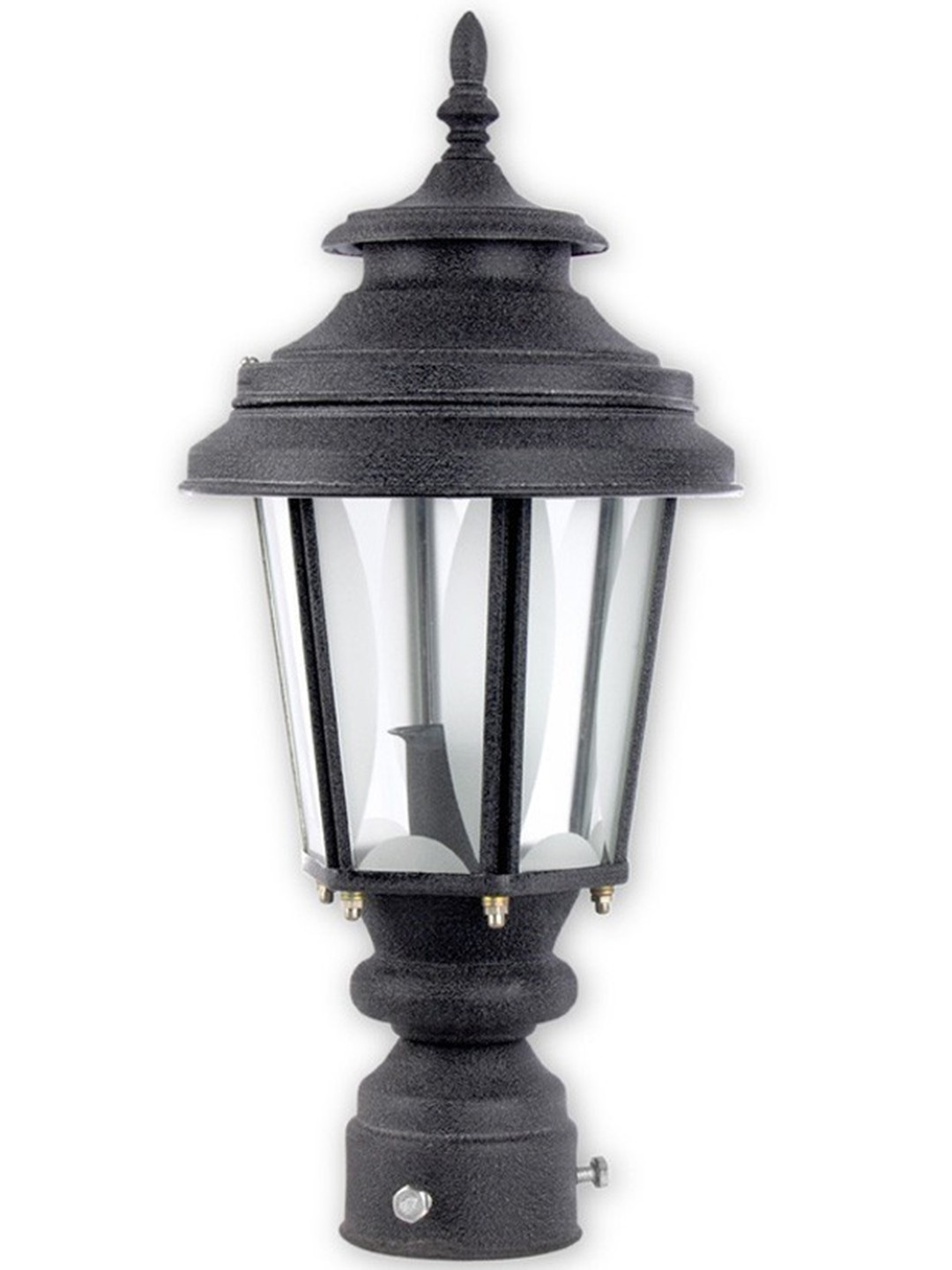 Crinkle Black Small Exterior Gate Light