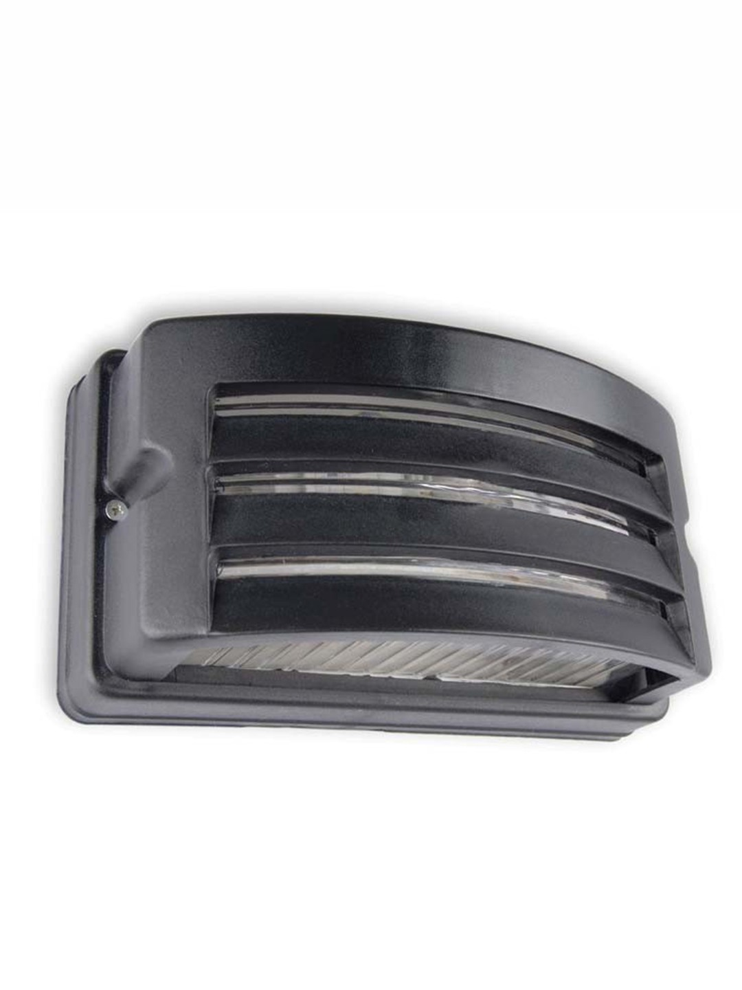 Unbreakable Outdoor Black Rectangle Bulkhead Light