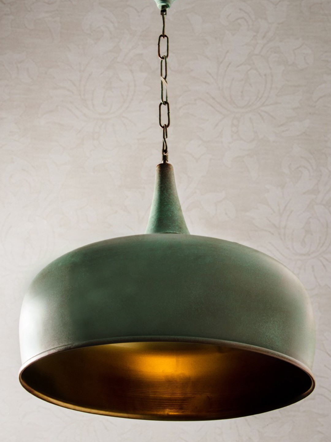 Patina Onion Dome Hanging Light