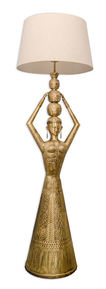Kalash Figurine Floor Lamp