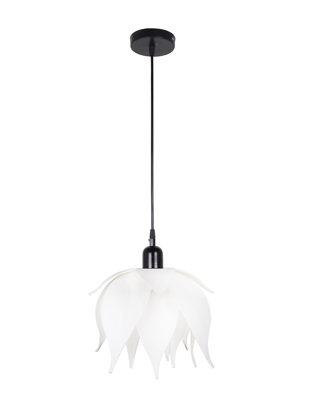 Auspicious Ivory Lotus Pendant Light