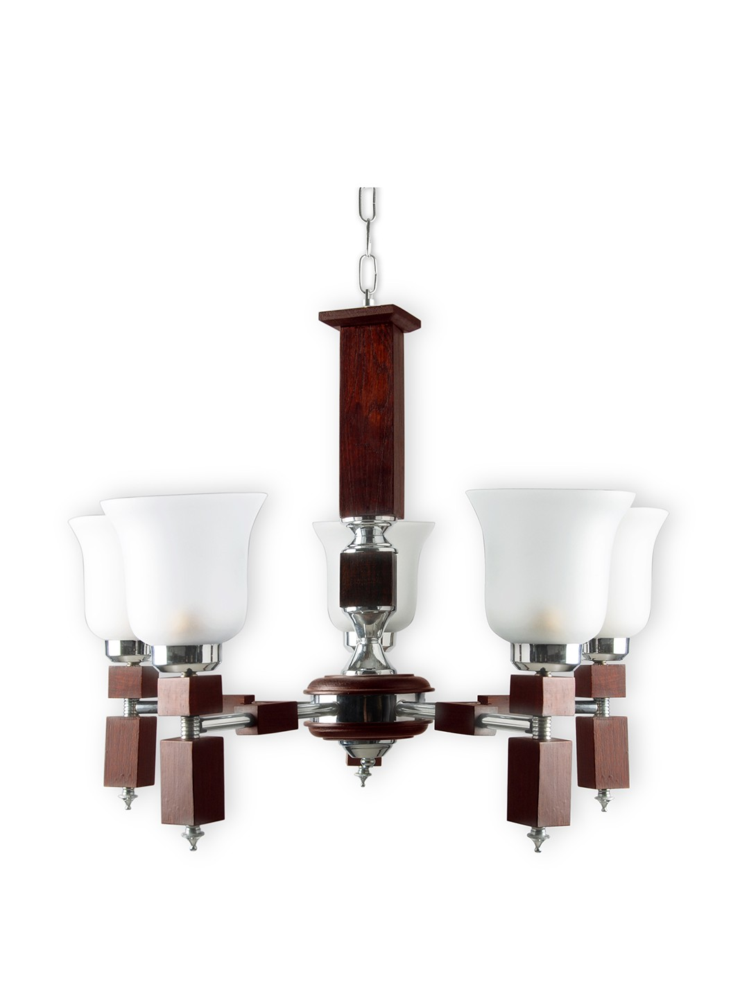 Martin wood  5 light chandelier