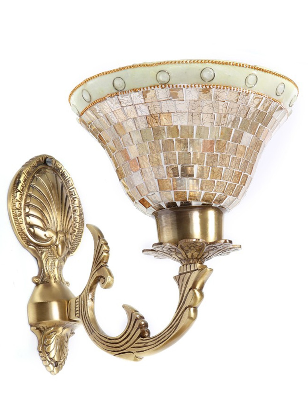 Meenakshi Golden Katora Single Wall Light