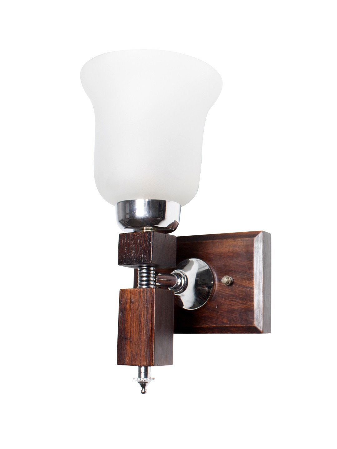 Martin Crown Wood Single Wall Light