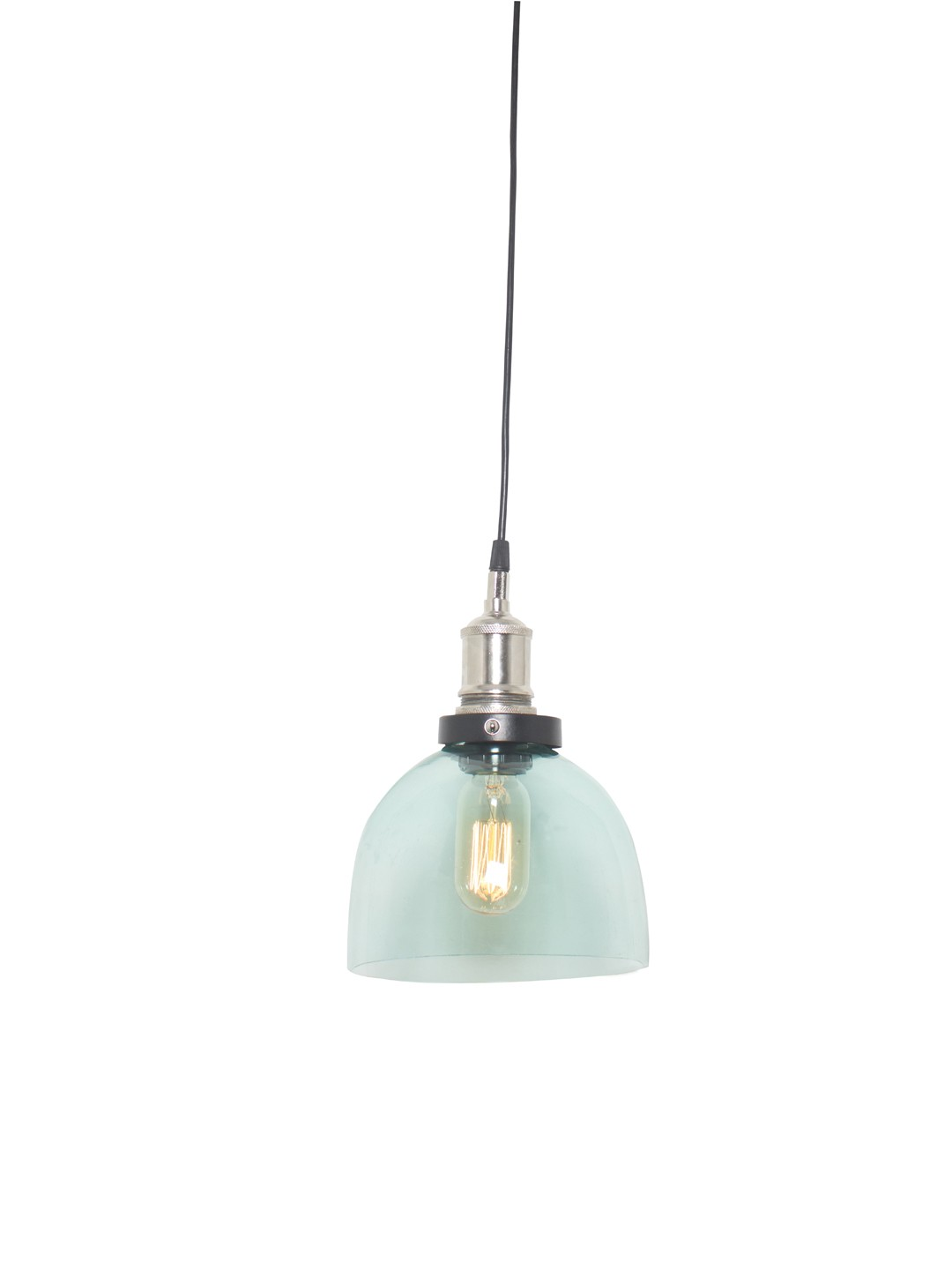 Aqua Blue Modern Glass Pendant Light