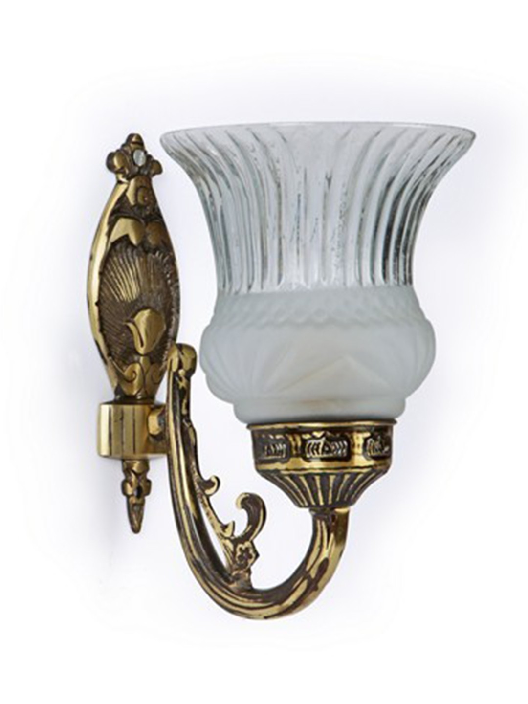 Usha Single Antique Brass Wall Light