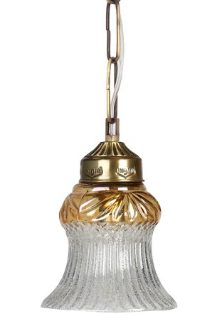 Lustrous Antique Brass Hanging Light