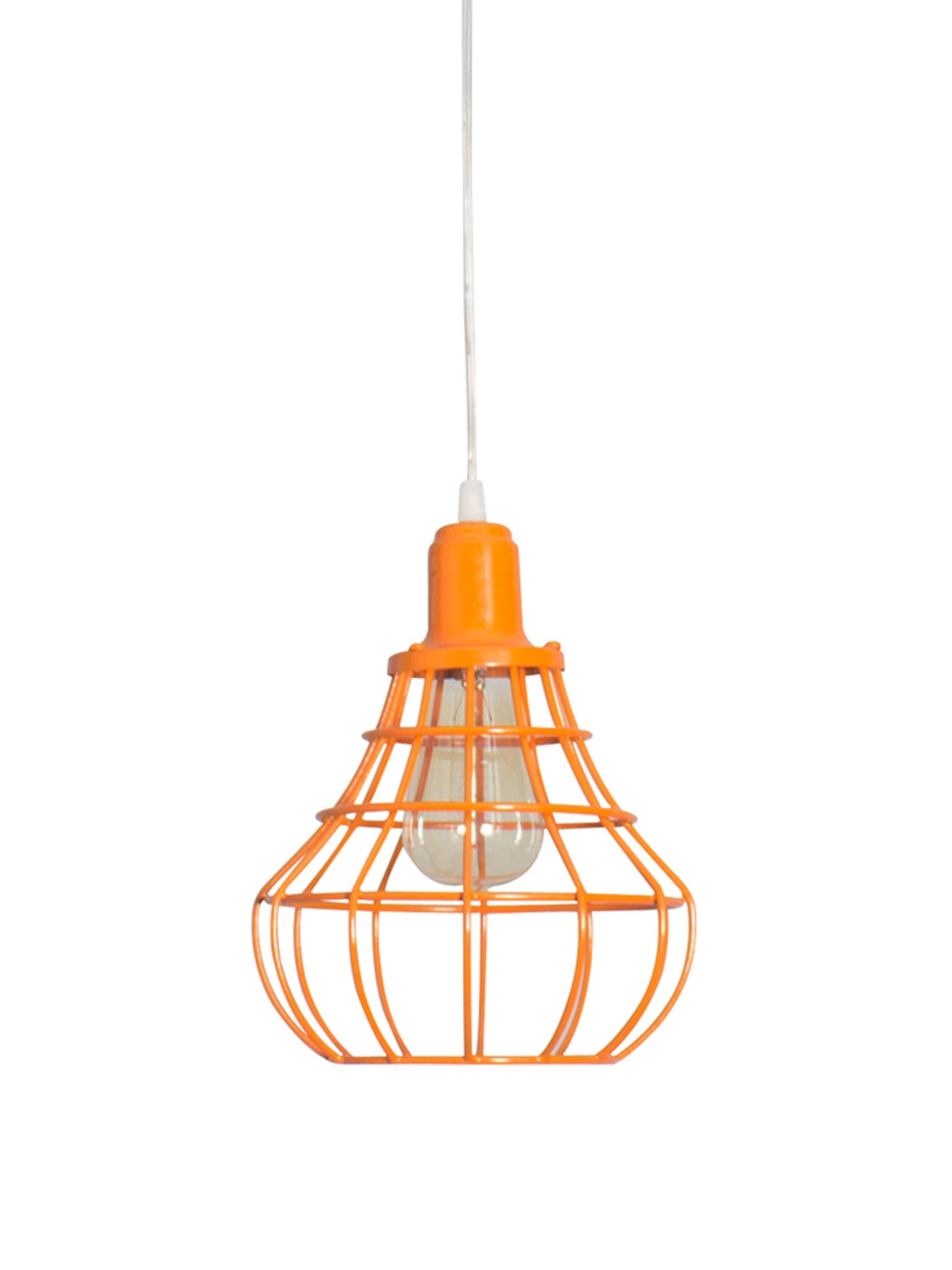 Orange Cage Bell Hanging Light