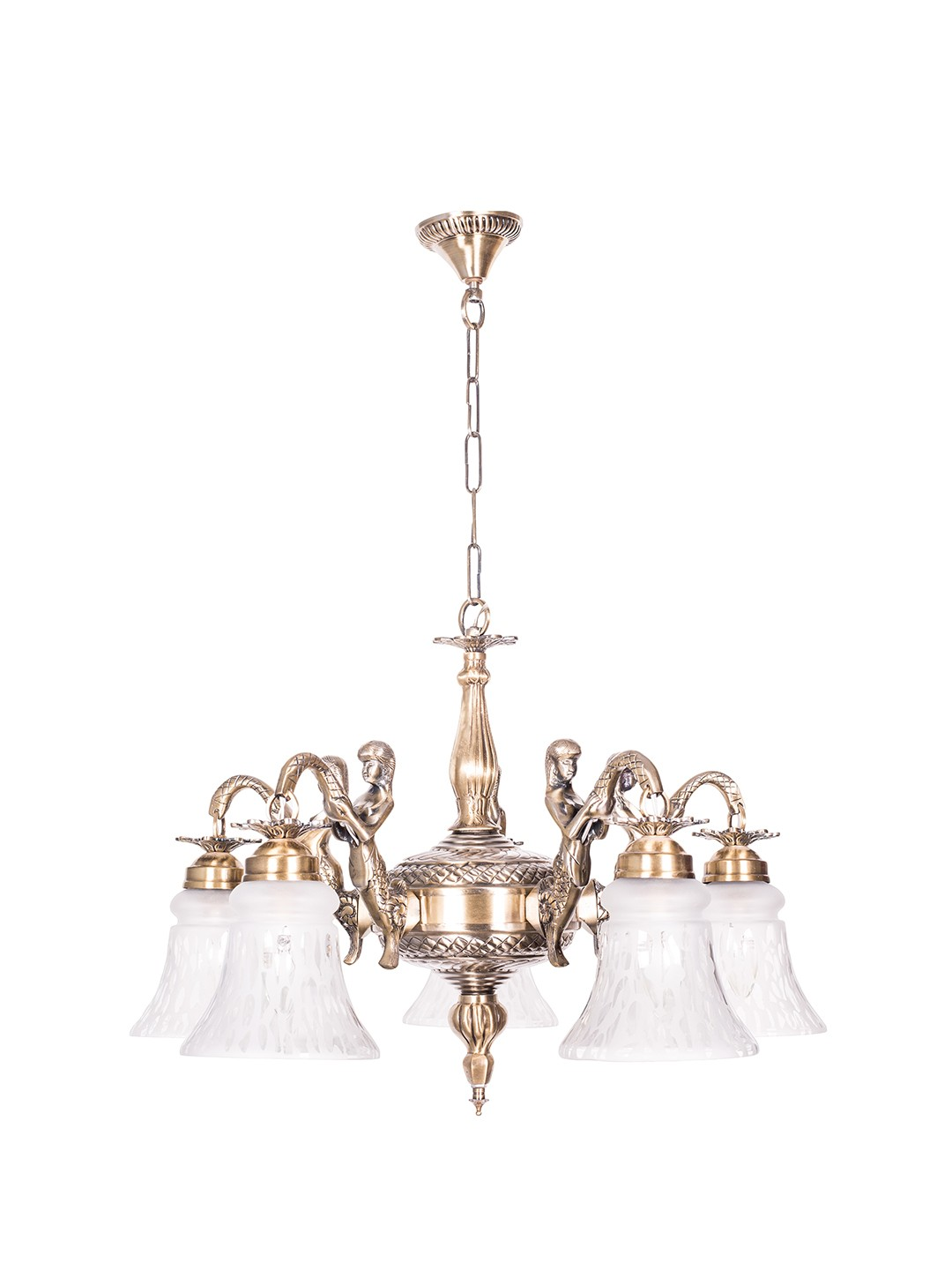 Mermaid Embossed Bell Chandelier