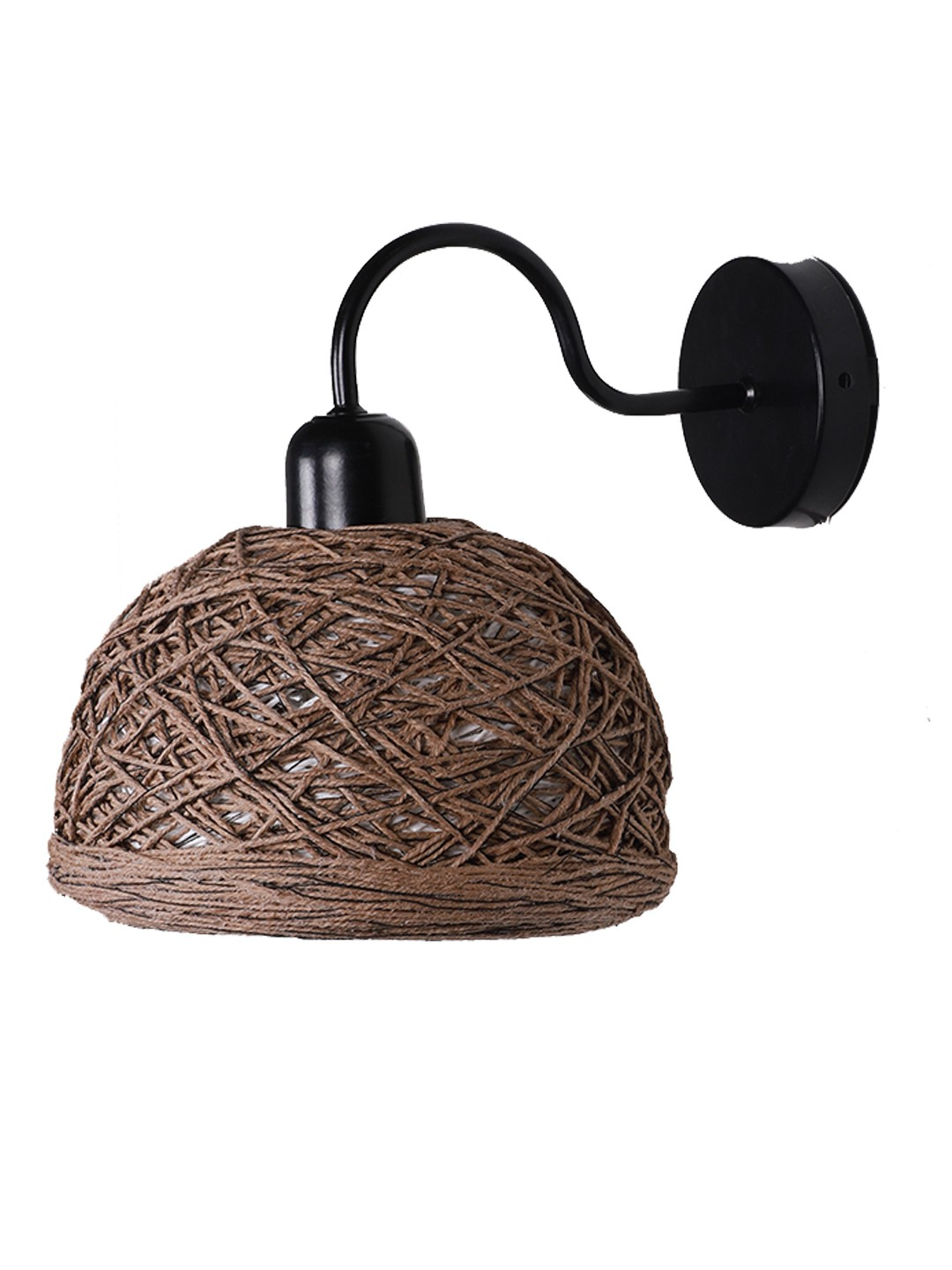 Brown String Bowl Wall Sconce