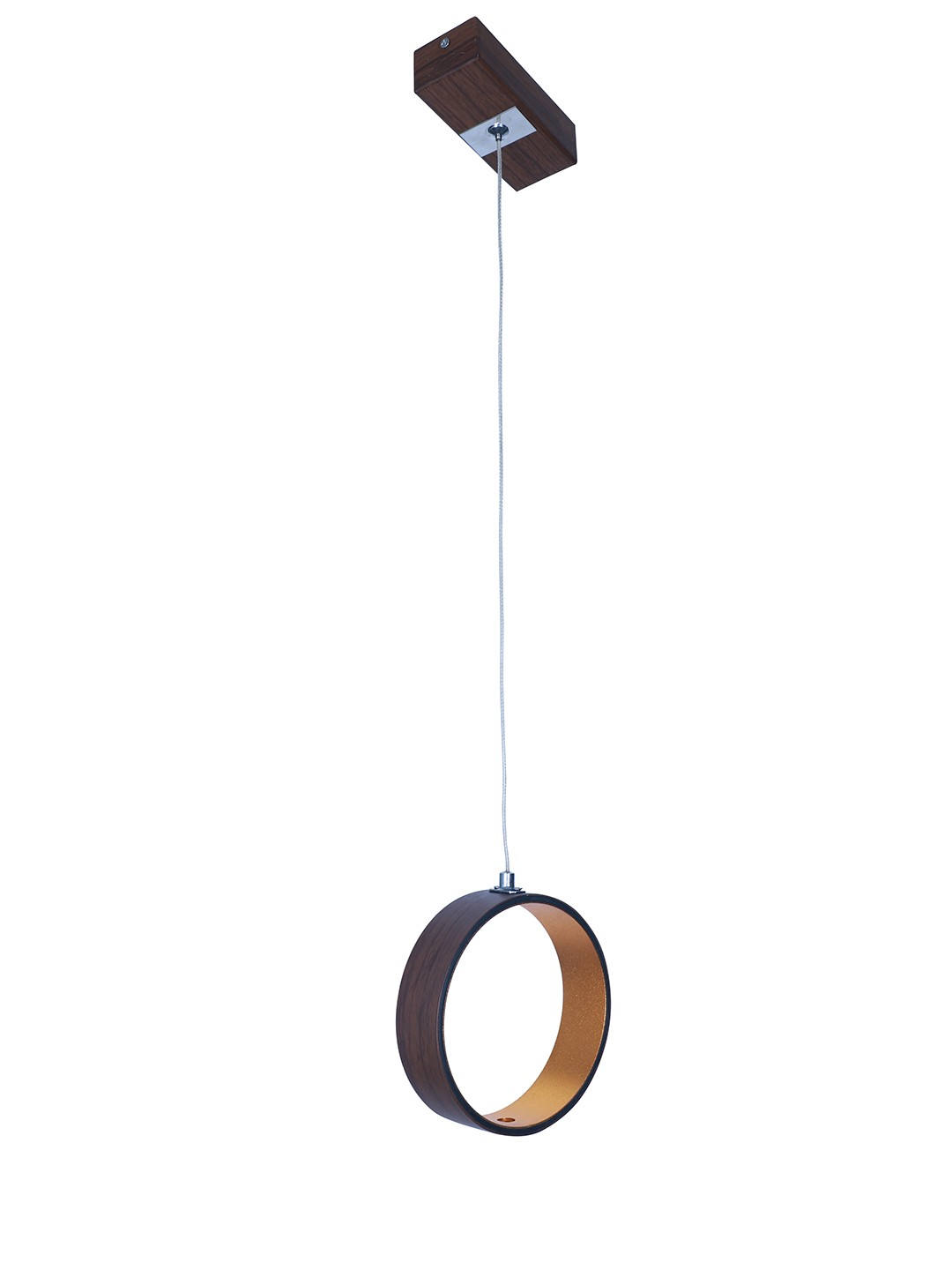 Modern Glare Free Brown Ring LED Pendant Light